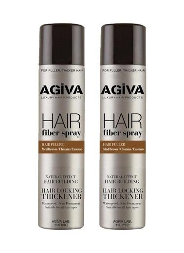 Agiva Agiva 2'Li Her Saç Tipiiçin Dolgunlaştırıcı Fiber Saç Şekillendirici Spray 150 Ml Renksiz